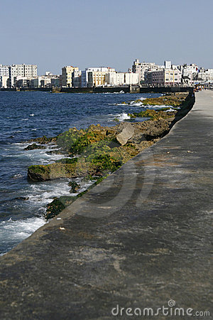 Colonial city of Havana and it s Malecon. Cuba