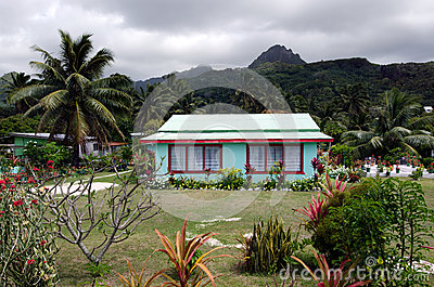 Colonial home in Rarotonga Cook Islands Editorial Stock Image