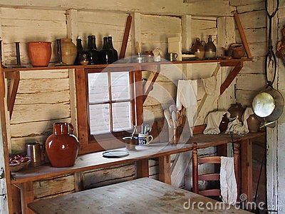 Colonial Kitchen Stock Photo - Image: 39177420
