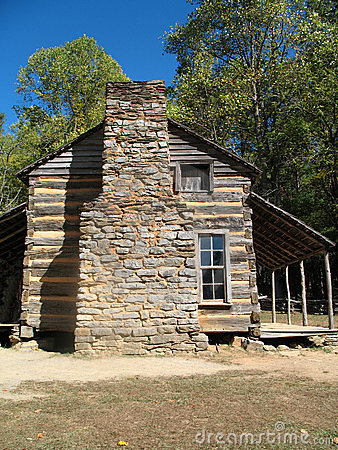 Colonial Log Cabin Royalty Free Stock Photos Image 3879318