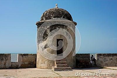 Colonial rampart of Cartagena de Indias. Colombia