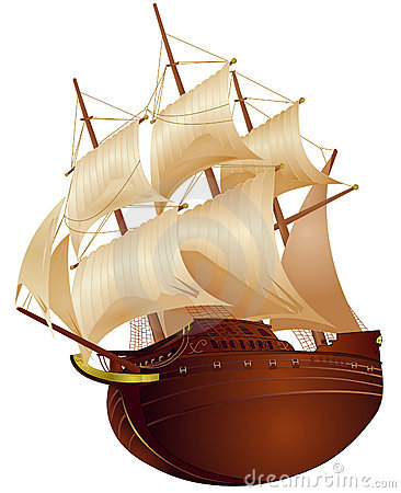 Free Colonial Ship Royalty Free Stock Images - 4320649
