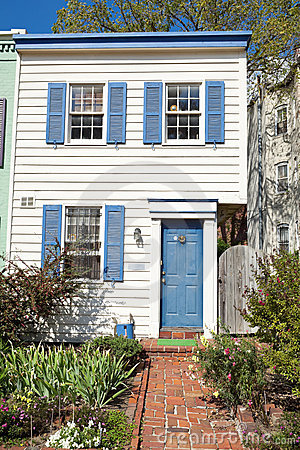 Colonial Style Washington DC Row House Home