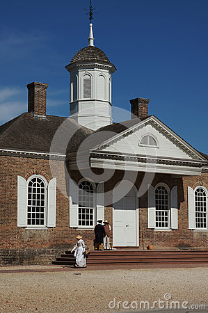 Colonial Williamsburg Courthouse Editorial Photography
