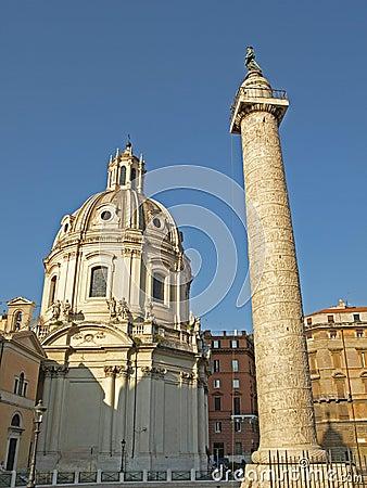 Free Colonna Traiana & Chiesa Stock Photos - 11695003