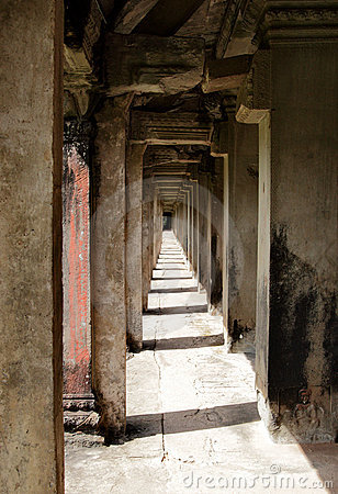 Colonnade at Angkor Wat,