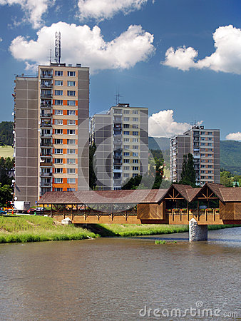 Free Colonnade Bridge And Flats In Bysterec Stock Photography - 29712972