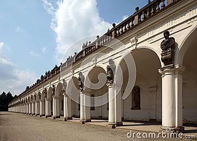 Colonnade of  Castle Kromeriz