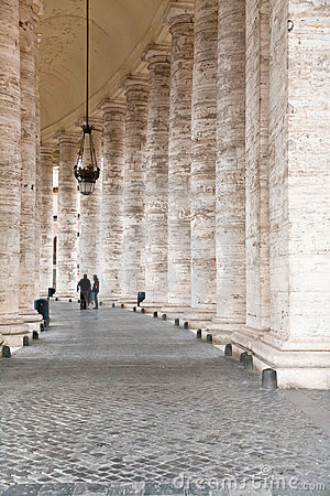 Colonnade on Sr.Peter square in Rome,
