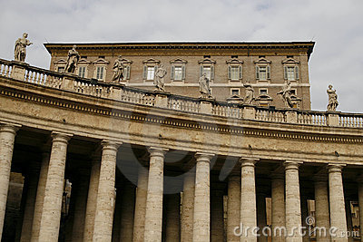 The Colonnade of St. Peter s Basilica in Vatican