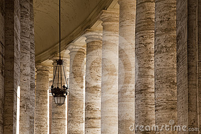 Colonnaded walkway