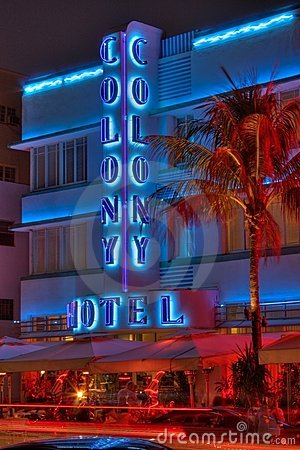 Colony Hotel South Beach Miami Editorial Stock Photo
