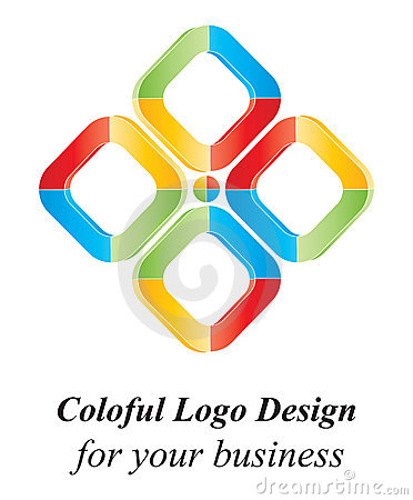 Color 3D logo design