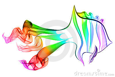 Color abstract fish