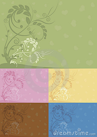 Color abstract floral backgrounds