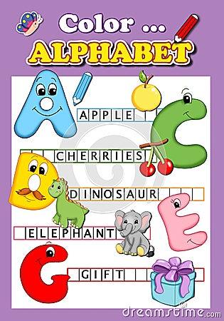 Color the alphabet