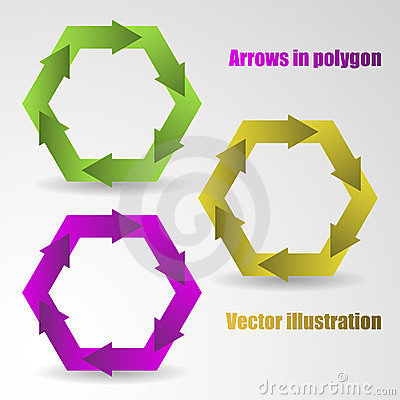 Color arrows in the polygon