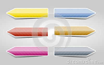 Color arrows set
