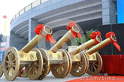 Color artillery in celebration