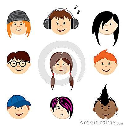 Color Avatars - Teenagers