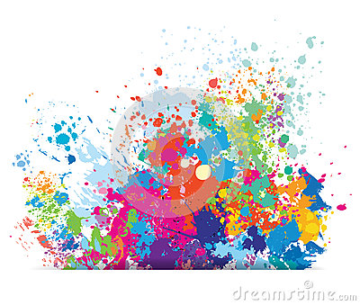 Color Background Of Paint Splashes Vector Illustration