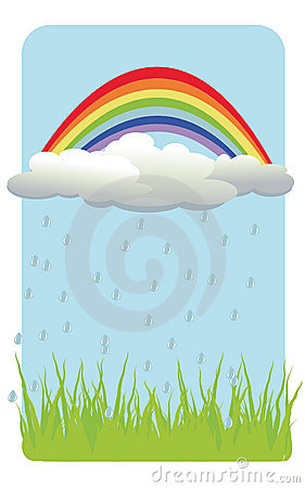 Color background with rainbow