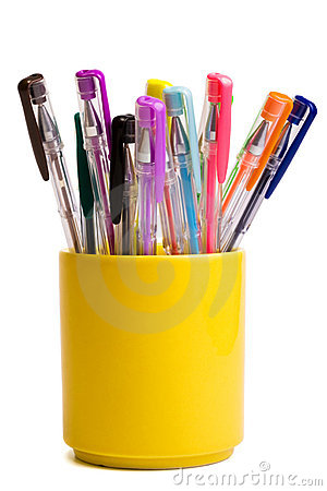 Free Color Ballpoint Pens Stock Photo - 6392540