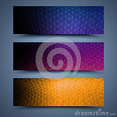 Free Color Banners Templates. Abstract Backgrounds Royalty Free Stock Photos - 34811838