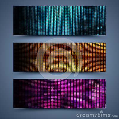 Free Color Banners Templates. Abstract Backgrounds Stock Photography - 34862932