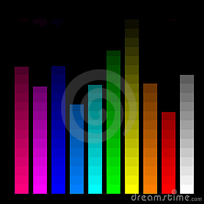 Free Color Bars For Monitor Calibration Royalty Free Stock Photography - 5034417