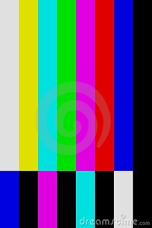 Color Bars Tv Off Air Screen