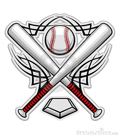 Free Color Baseball Emblem Royalty Free Stock Images - 19968309