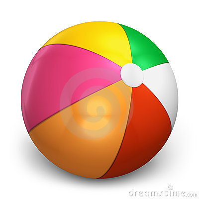Free Color Beach Ball Stock Images - 22151684