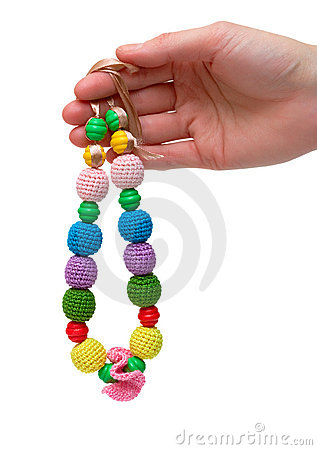 Color bead necklace