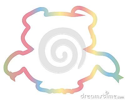 Color Bear. Huge beast wild animal. Cartoon Illustration