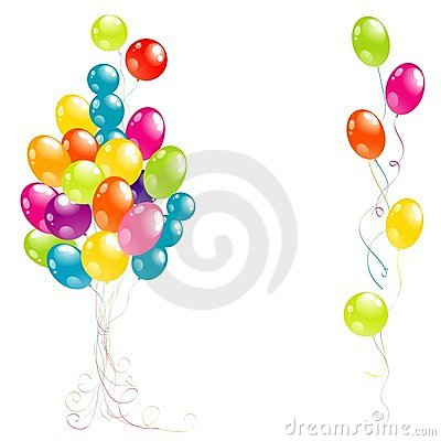 Color beautiful party balloons