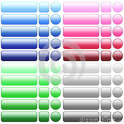 Free Color Blank Web Buttons Stock Photography - 61012182