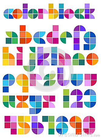 Geometric Abstract Mosaic Alphabet/eps