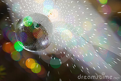 Color blurs and disco lights