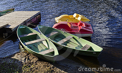 Color boats for fishing and sport activities