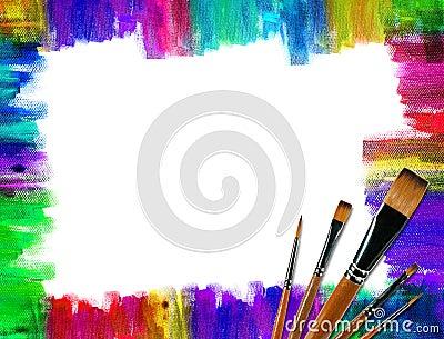 Color brush frame