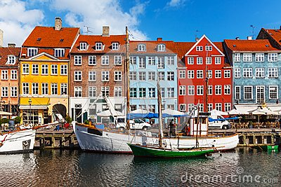 Color buildings of Nyhavn in Copehnagen, Denmark