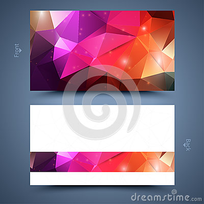 Free Color Business Card Template. Abstract  Background Stock Photo - 35087930