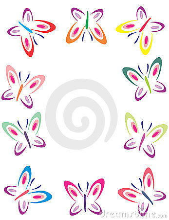 Pics Of Butterflies To Color. Color butterflies frame