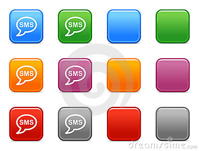 Color buttons with sms icon