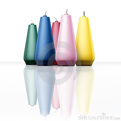 Color candles slim