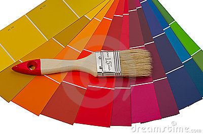 Color card and brush