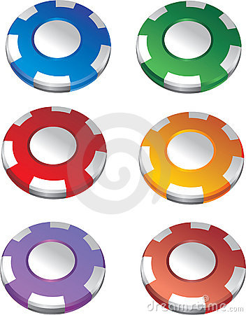 Color casino chips