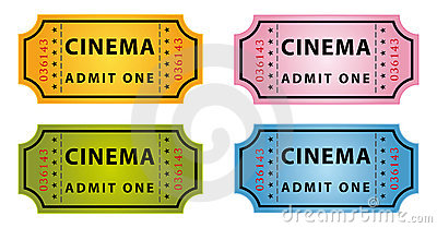 Color cinema tickets
