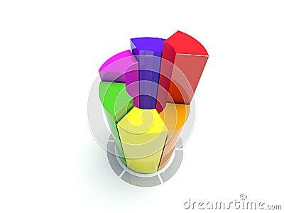 Color circular diagram on white
